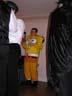 SpongeBob SquarePants (Ed) Enjoys a Drink and Some Conversation