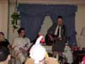 The Chicken watches as Chris and Emmett rock